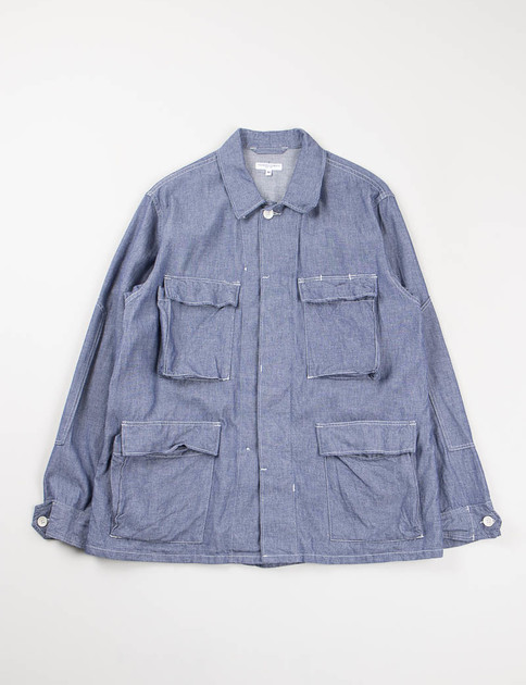 Indigo Cotton Dungaree Cloth BDU Jacket