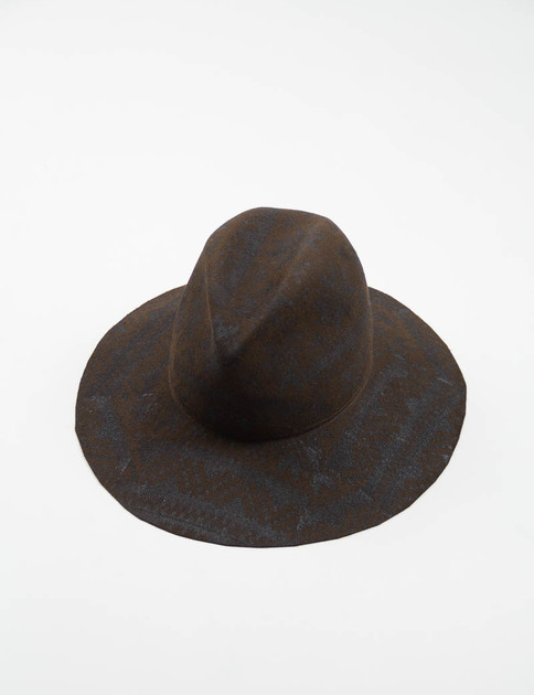 Engineered Garments Brown Fur Printed Felt Hat