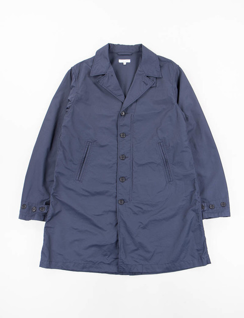 Dark Navy Nyco Twill 41 Duster Coat