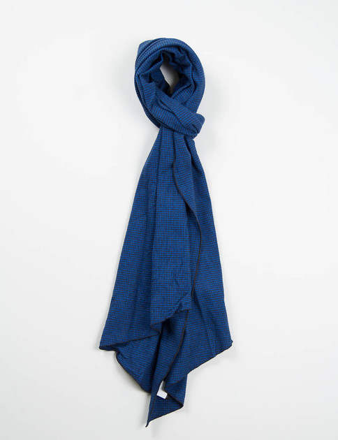 Royal Houndstooth Flannel Long Scarf