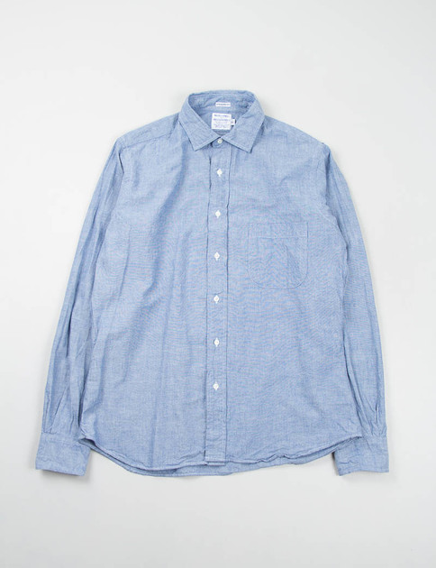 Blue Chambray Point Collar Shirt