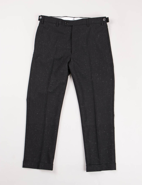 Black Vintage Nep High Water Slacks