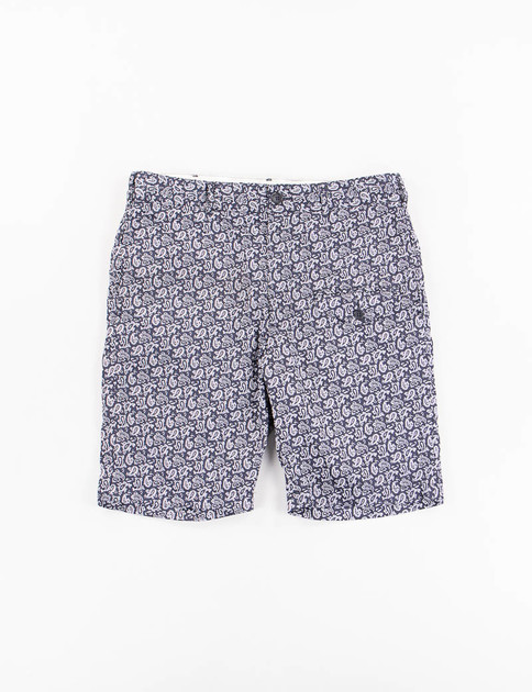 Dark Navy Cotton Paisley Ghurka Short