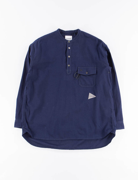 Navy Thermo Nell Stand Collar Shirt