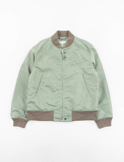 Olive Flight Sateen Jacket