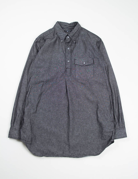 Black 6oz Denim Popover Long BD Shirt