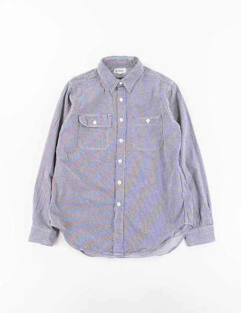 Indigo Railroad Stripe Utility Shirt