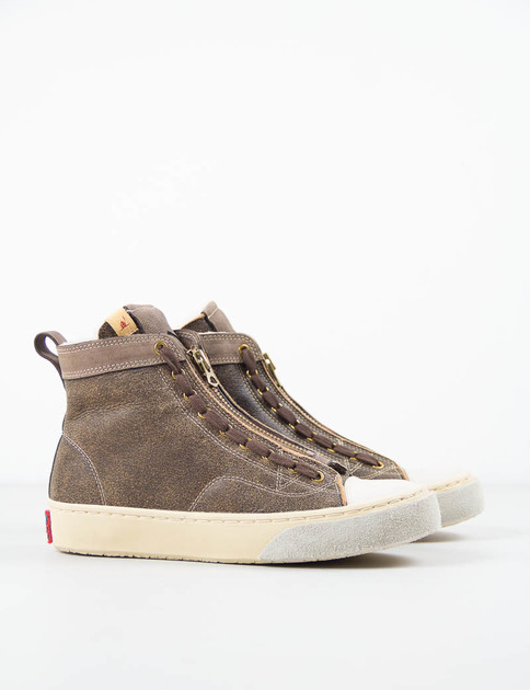 Dark Brown Shearling Skagway Hi–Folk