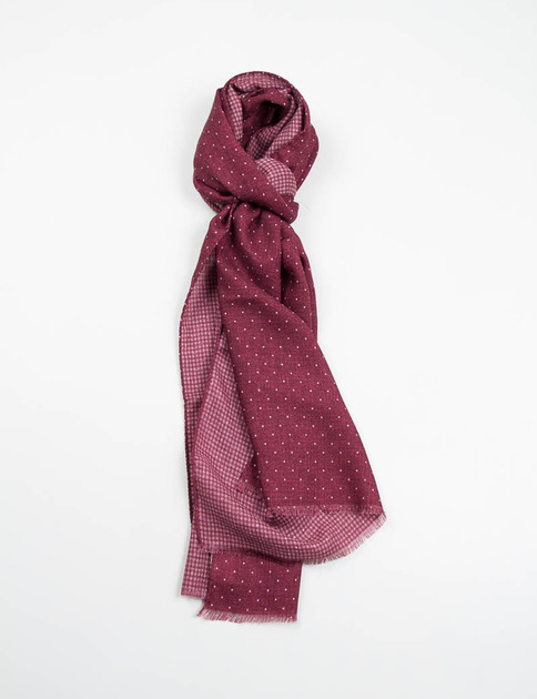 Bordeaux Polka Dot Double Sided Scarf