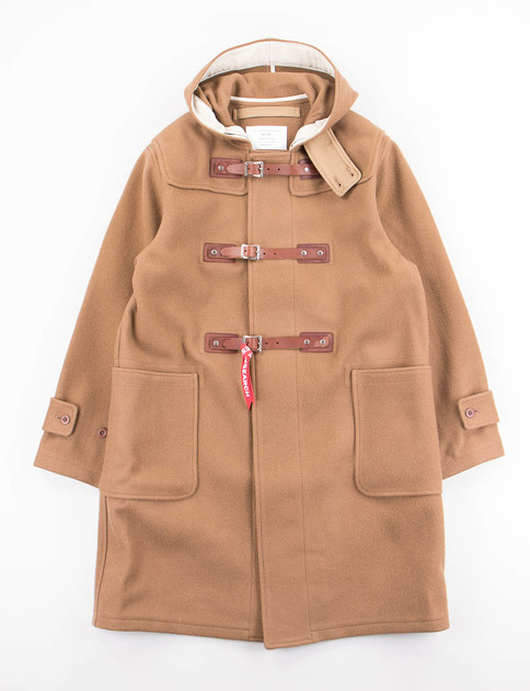 Camel Belted Duffle Coat with Vest