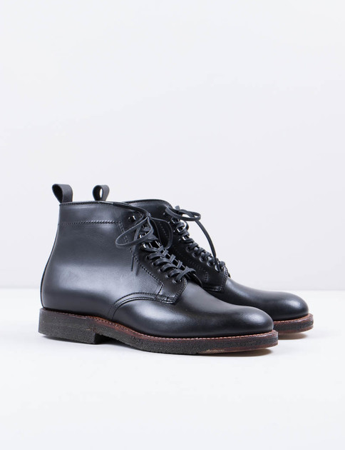 Black 2–Tone Officer Boot