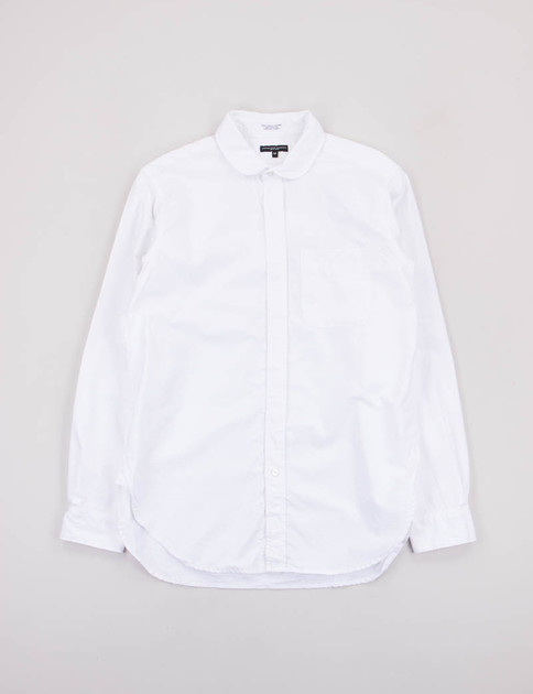 White Oxford Rounded Collar Shirt