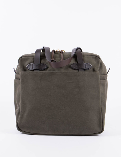 Otter Green Tote Bag With Zipper