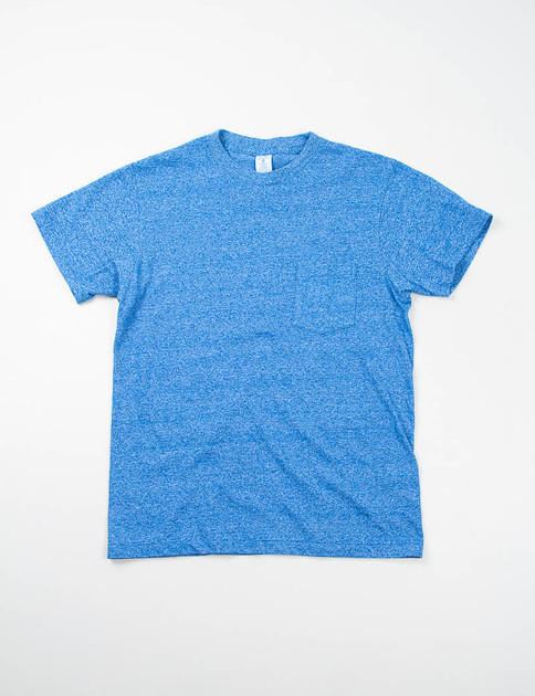 Heather Blue 1–Pac Pocket Tee