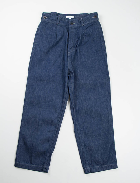 Indigo Used Wide Silhouette Denim Trouser