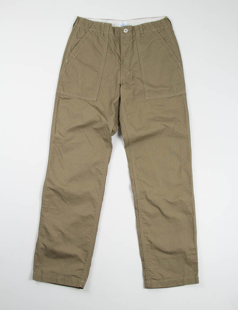 Olive Ripstop Post Baker Pant