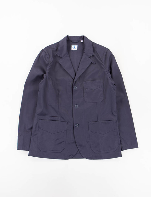 Navy Fine Cotton Twill Villefranche Jacket