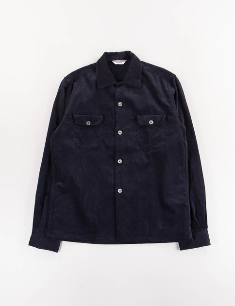 Navy Open Collar Shirt