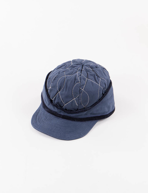 Navy After Wiggle Twill Quilted Donkey Cap