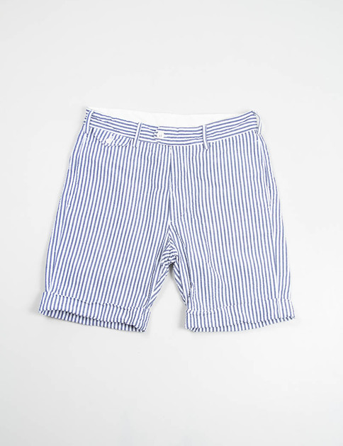 Navy/White Seersucker Stripe Cambridge Short