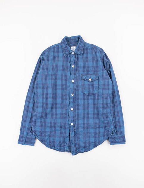 Blue Check Feather Chambray C–Post 9 Shirt