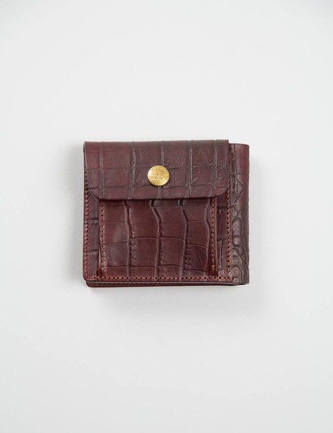 Brown Embossed Billfold Wallet