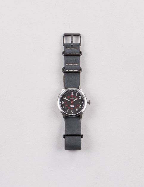 Steel/Black w/ Black Strap Waterbury United Watch