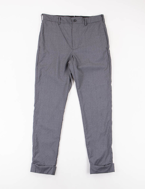 Grey Tropical Wool Cinch Pant