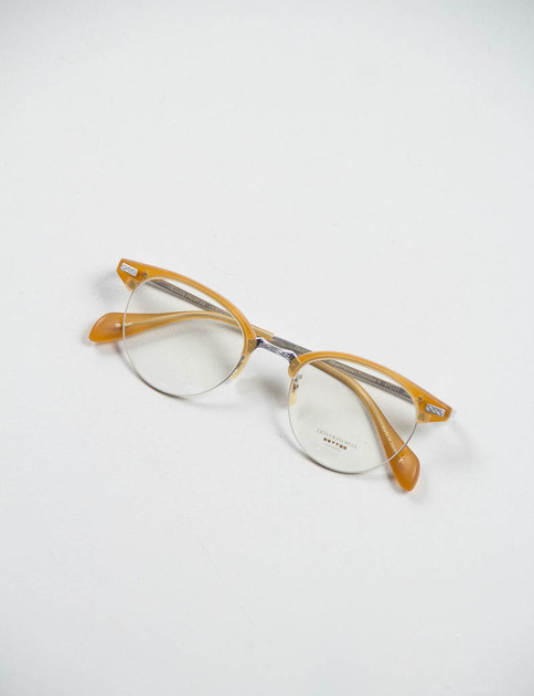 Matte Amber Tortoise/Brushed Silver Executive II Optical Frame