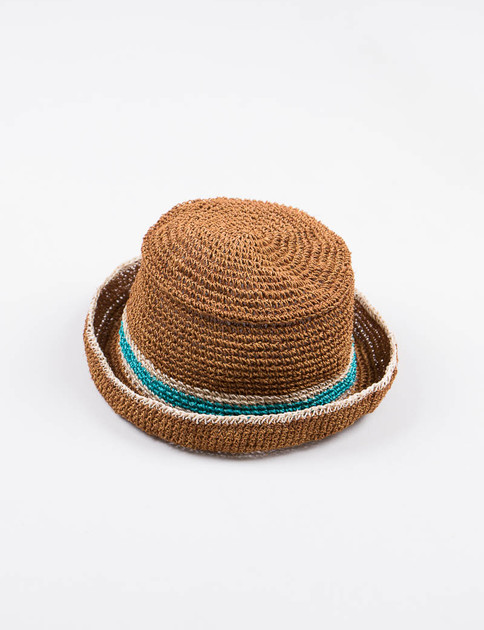 Brown Abaca Hat