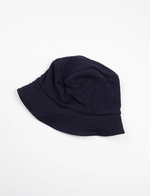 Dark Navy 13oz Wool Flannel Bucket Hat