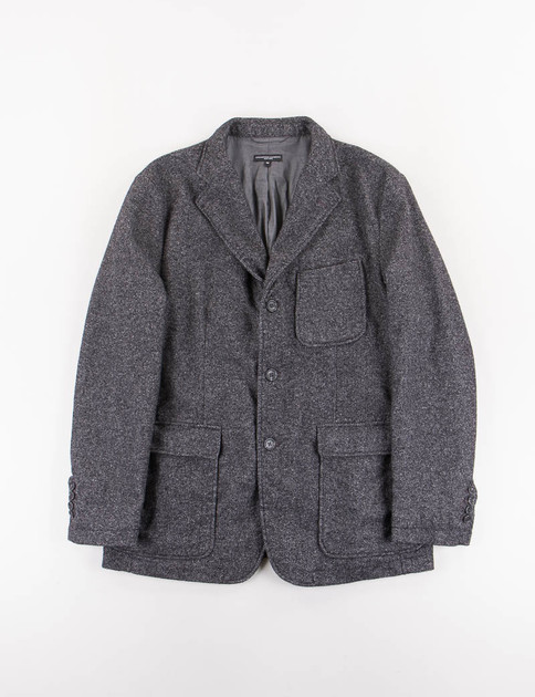 Charcoal Wool Homespun Baker Jacket