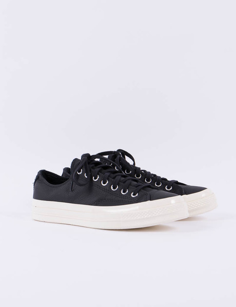 Black Suede/Leather Chuck Taylor All Star 70s