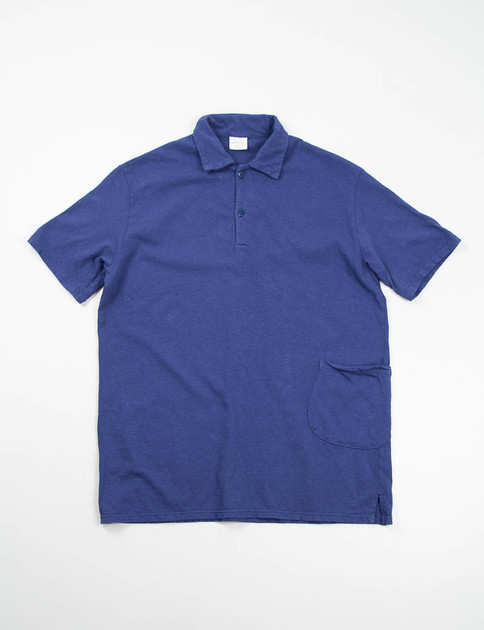 Navy Jersey Polo Pocket T–Shirt