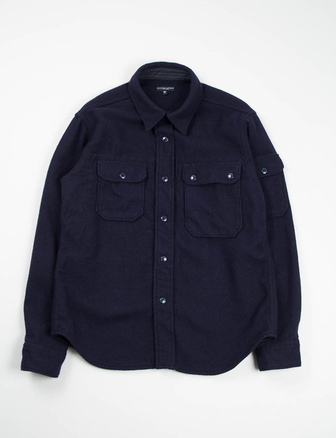 Dark Navy 16oz Wool Flannel CPO Shirt
