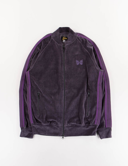Charcoal Velour Track Jacket