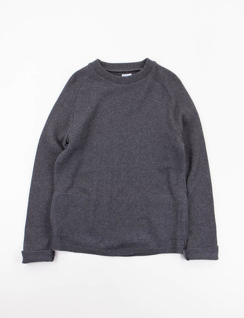 Charcoal Lambswool Glacier Sweater