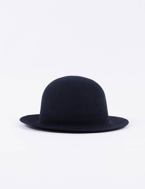 Black Fur Felt Open Crown Hat