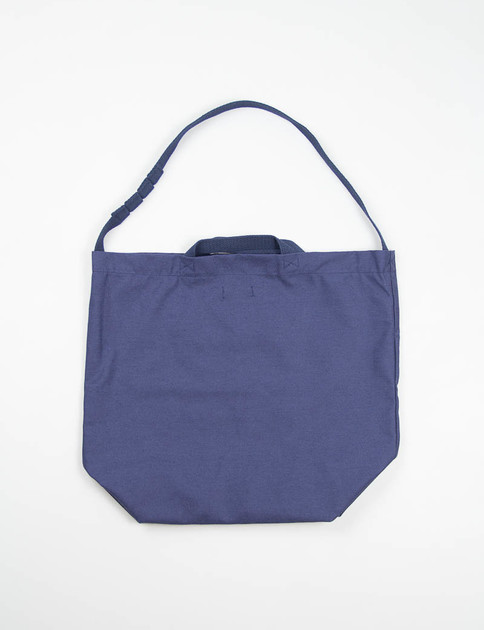 Navy Nyco Reversed Sateen Carry–All Tote