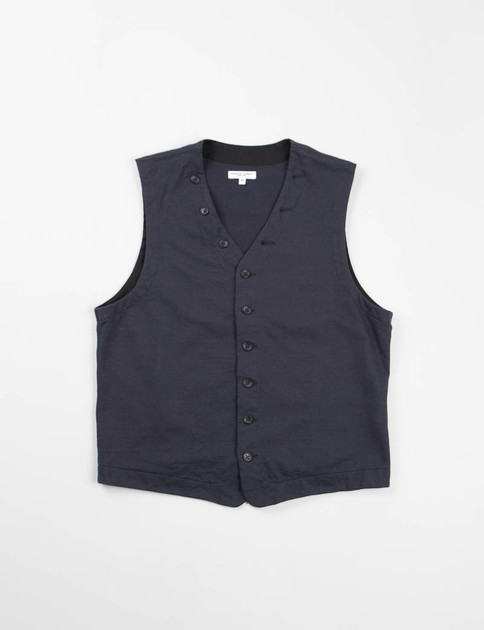 Dark Navy French Terry Knit Vest