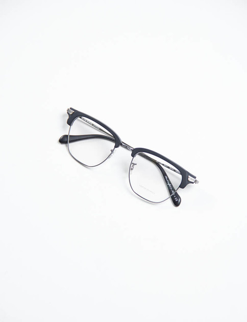 Pewter/Matte Black Banks Optical Frame