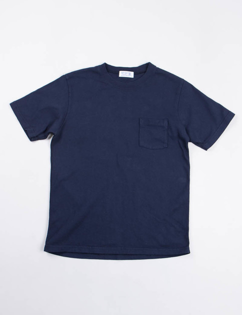 Navy Heavy Oz Pocket Tee