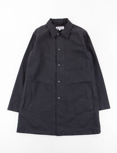 Black 10oz Bull Denim Shop Coat