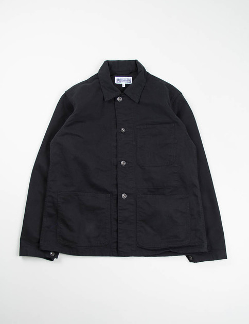 Black Bedford Cord Utility Jacket
