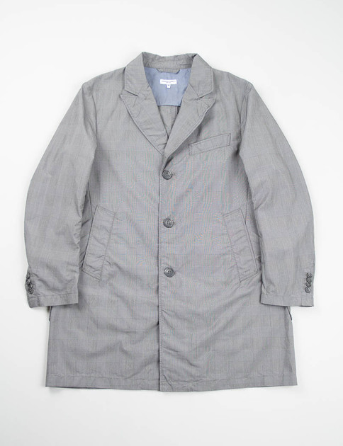 Grey PC Glen Plaid Chester Coat