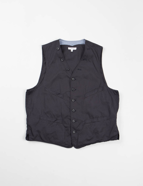 Dark Navy Iridescent Cinch Vest