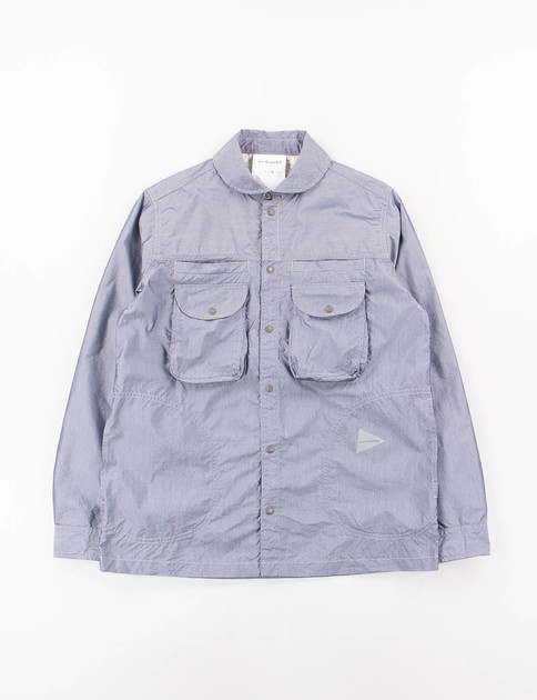 Navy Dry Typewriter Shirt Jacket
