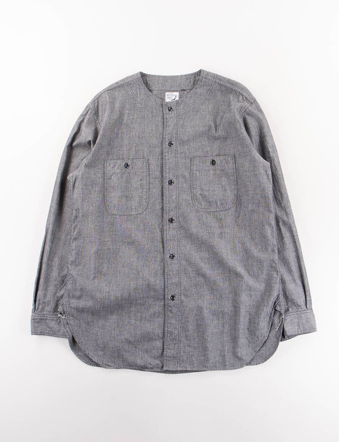 Black Chambray No Collar Inner Shirt