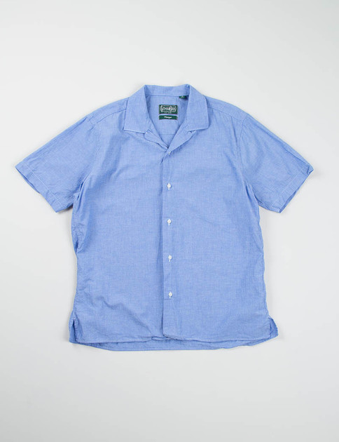 Blue Chambray Camp Shirt