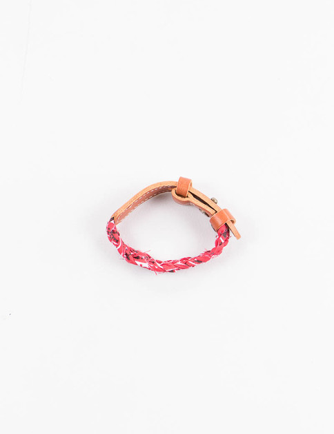 Red Bandana/Leather Bracelet